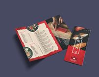 Restaurant Menu Trifold Brochure Design