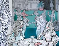 """""""Tropical Dance Club"""" (Tunnel Book)"""