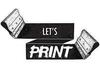 Lets Print logo design