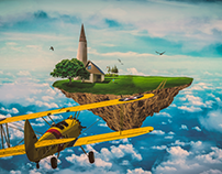 Matte Painting: Home in the Clouds
