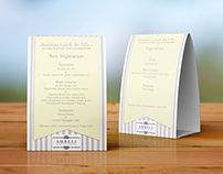 Tent Card Design - Amreli Kitchen & Cocktails