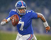 Dwayne Haskins NY Giants uniform swap