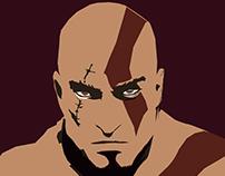 Kratos Vector Potrait
