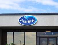 Ocean Spray Illuminated Sign