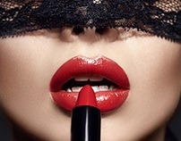 Red lips passion