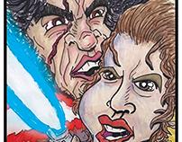 Rey vs Kylo Ren Caricatures