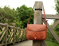 Leather messenger mail bags