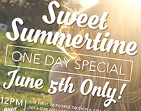 Summertime Promotional Flyer