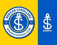 Redcar Strollers Walking Football Club - Crest Design