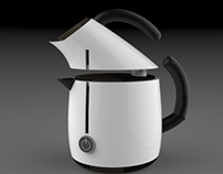 eletric kettle and steam coffee
