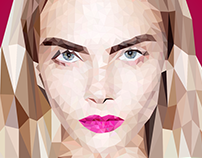 Cara Delevingne Low Poly