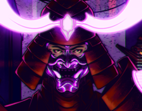 Gig Poster - Cyberpunk Samurai - Jungle Ting!
