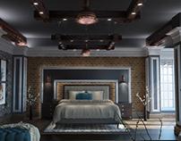 Rustic Master bedroom KSA