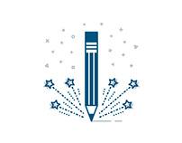 Marketing, Design and Business icon set (bluetone)