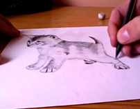 Speed-Art Kitten