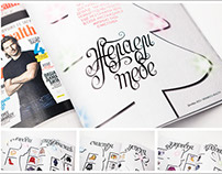 Calligraphy for Woman's Health magazine