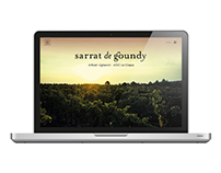 Website concept - Sarrat De Goundy
