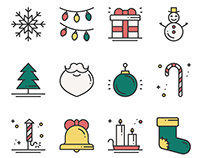 Line Icons - New Year