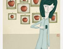 My heart, an apple.