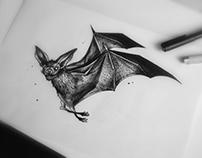 Bat Tattoo Flash