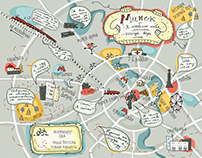 "map illustration for a teenage novel ""Siamese"""