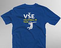 Volleyball T-Shirt (Client: students of VŠE, Praha)
