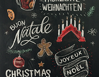 Christmas Chalk Merchandise & Animation