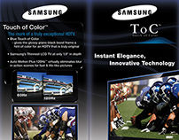"Samsung ""Touch of Color"" Endcaps"