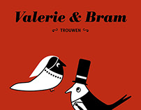 Wedding Invitation, Valerie & Bram