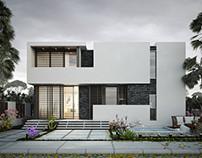White and Black Villa