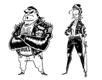 BIKERS SKETCHES
