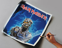 Eddie Painting - tribute to Derek Riggs and Iron Maiden