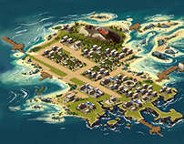 Island concept for Age of Sparta - Gameloft