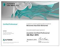 Autodesk 3dsMax 2015 Certified Professional Certificat