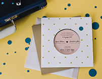 Vinyl Wedding Invitation