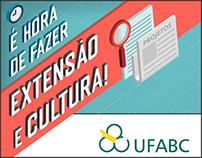 Cartaz - Editais de Extensão e Cultura na UFABC 2017