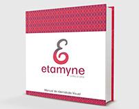 Logotipo e manual da marca Etamyne Linha e Arte