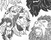 10 Lion Illustrations