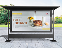 Free Outdoor Advertising Stand Billboard Mockup