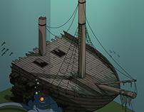 Tiny Island Shipwreck