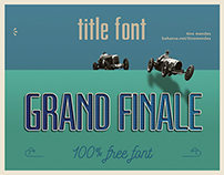 GRAND FINALE font