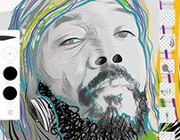 A Tribute to Osunlade: Painted by Jose Gonzalez