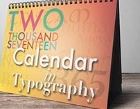 GWDA122 Typography II Hierarchy Final Project: Calendar