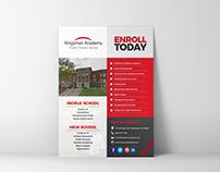 Academic Enrollment Flyer Design