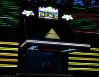 Iluminación LED. Casino Palace Cancún, México.