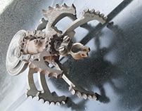 spider metal sculpture