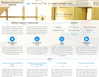 Ruskov and Colleagues website design