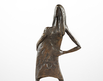 Bronze statue of Lady with long hair - limited edition