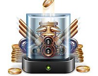 """Big icons """"Crazy money machines and more"""""""
