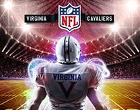 Virginia Cavaliers Football -  Flyer Design